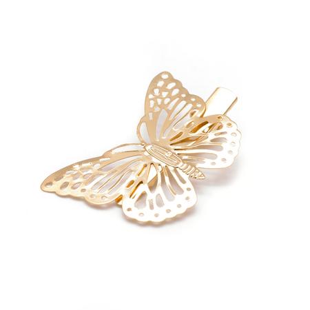 butterfly gold  barrette