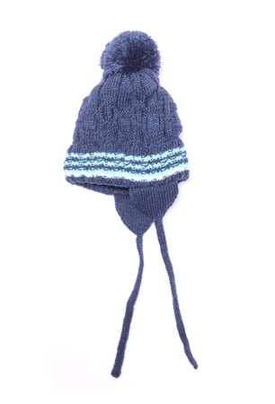 baby blue bubo hat  isolated on white Stock Photo