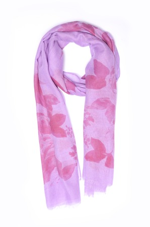 pink scarf isolated on white Stock Photo
