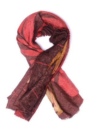 womans scarf isolated on white