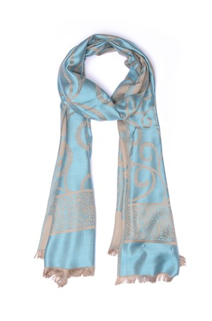 womans silk scarf isolated on white