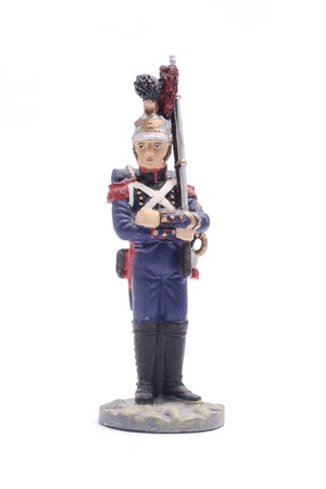 tin soldier squaddie armies of Napoleon 1812 Isolated on white