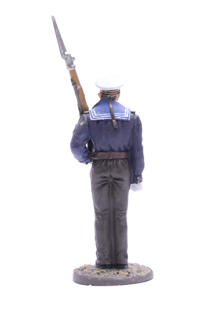 the ussr: Tin Soldier Sailor, Navy 1943-45 USSR isolated on white Stock Photo