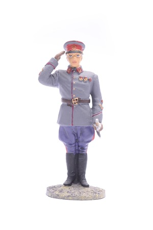 Tin Soldier Marshal of the Soviet Union isolated on white