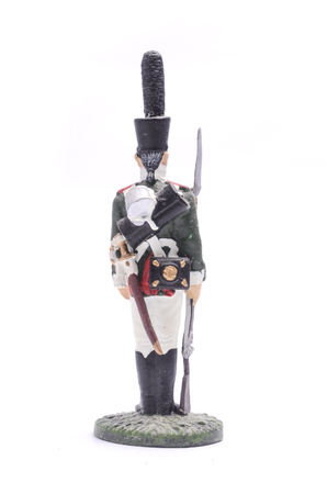 tin soldier Moscow Grenadier Regiment 1805 - 1807 Isolated on white Stock Photo