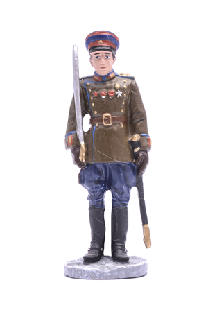 Tin Soldier  captain of the NKVD border troops 1945 isolated on white