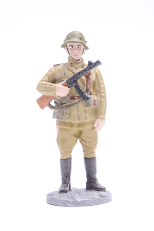 trooper: Tin Soldier ordinary trooper isolated on white