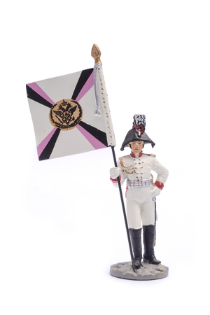 tin soldier  Generals adjutant, computed from the cavalry, 1807 Isolated on white