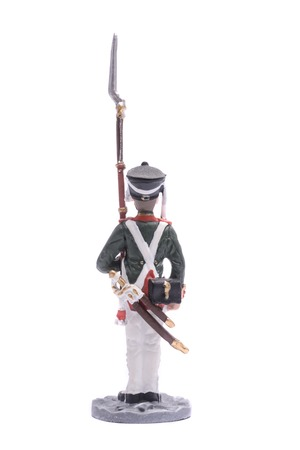 tin soldier Cadet 1st Cadet Corps 1812 Isolated on white