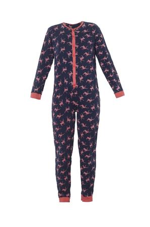 Kinder-Pyjama mit Hirsch isoliert auf weiß Standard-Bild - 71157333