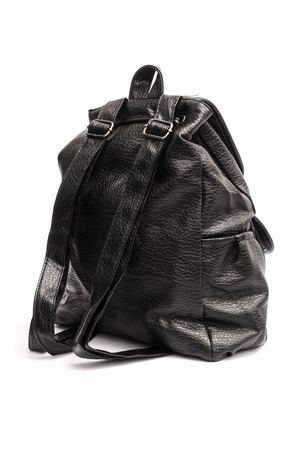 packsack: womens leather backpack isolated