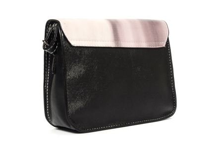 leather clutch isolated on white