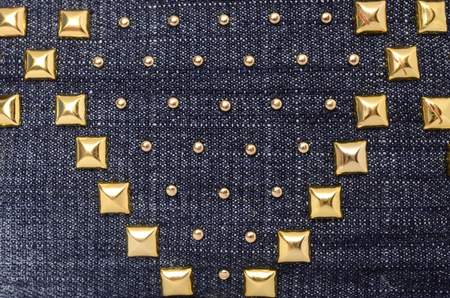 rivets: Denim texture with rivets Stock Photo