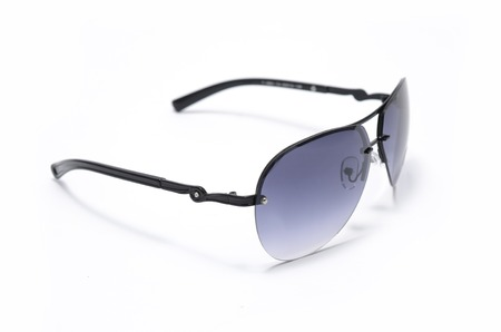 Mens sunglasses in metal frame isolated on white