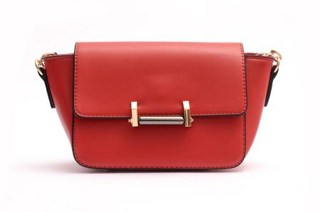 赤ファッション女性クラッチ、女性のハンドバッグ 写真素材