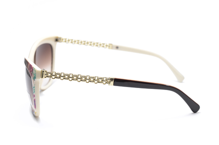 womens sunglasses with brown glass isolated on white Stock Photo