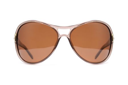 sun s: Sunglasses with brown glass isolated on white Stock Photo