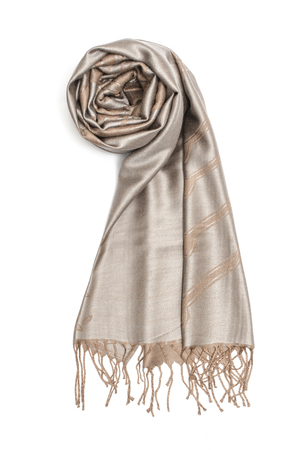 women's scarf with pattern isolated on white