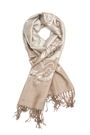 womens scarf with pattern isolated on white