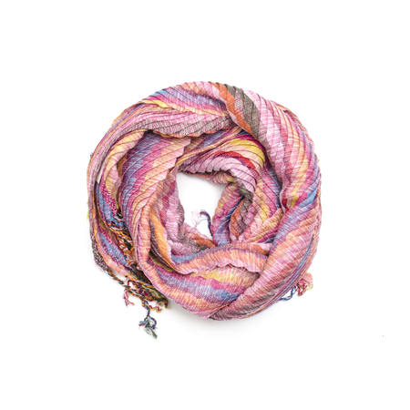 pink womens scarf isolated on white