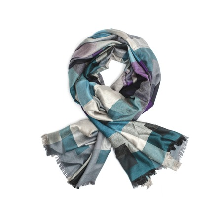 robo: womens scarf with pattern isolated on white
