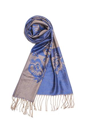 blue female scarf isolated on white