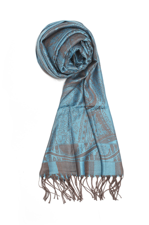 grey blue female scarf isolated on white