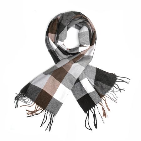plaid scarf isolated on white Stock Photo