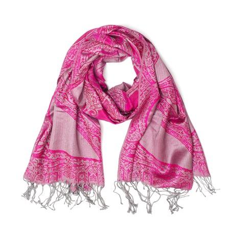 robo: bufanda rosada de las mujeres aislada en blanco