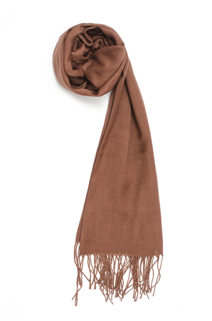 womens brown scarf isolated on white