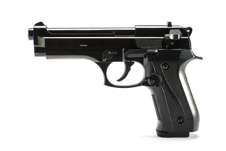 Gun, pistol isolated on white