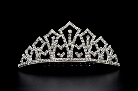 silver tiara isolated on a black background