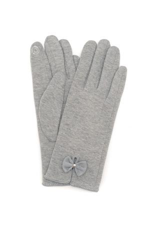 pair of female gloves isolated on white Standard-Bild