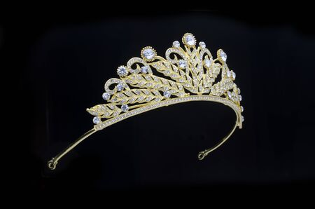 golden crown on a black background