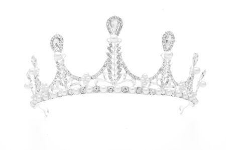tiara with pearls isolated on a white background Standard-Bild