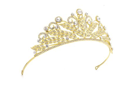 golden crown on a white background Stock Photo