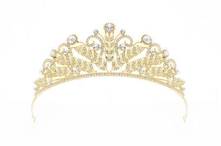 golden crown on a white background Standard-Bild