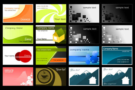 business card layout: Collection of business cards