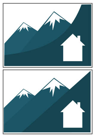 Set of mountain business cards