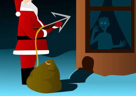 Santa Claus with harpoon