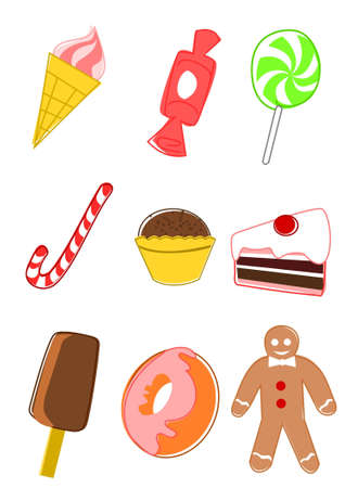 Collection of candy icons