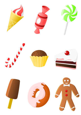 Collection of candy icons Stock Vector - 11284349