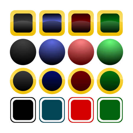Collection of iconbutton templates Illustration