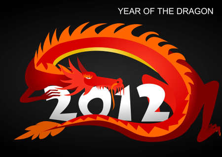 2012: year of the dragon Stock Vector - 11284377