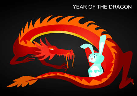 2012: year of the dragon Stock Vector - 11284378