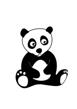 panda cub: Cartoon panda