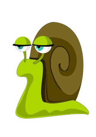 Phlegmatic snail Stock Vector - 11284365