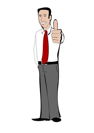mlm: Young businessman shows thumb up