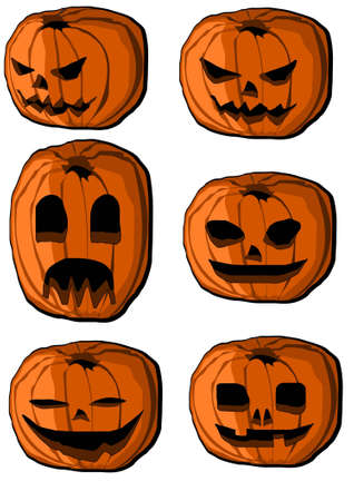 hallow: Collection of halloween pumpkin lanterns