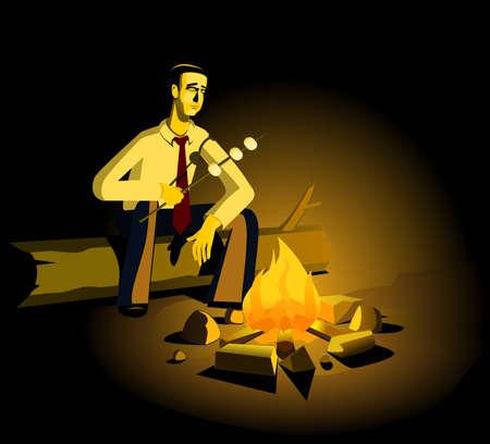 tag und nacht: Business as War-Reihe: Hard Day Night Illustration